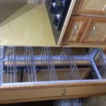 custom stainless steel pantry slider