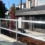 custom alumium walk way railing